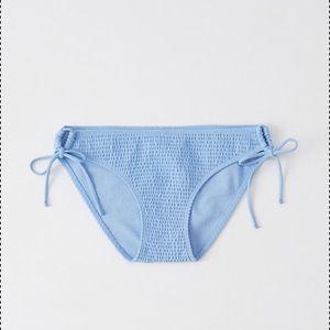 A&F Smocked Side Tie Bikini Bottom